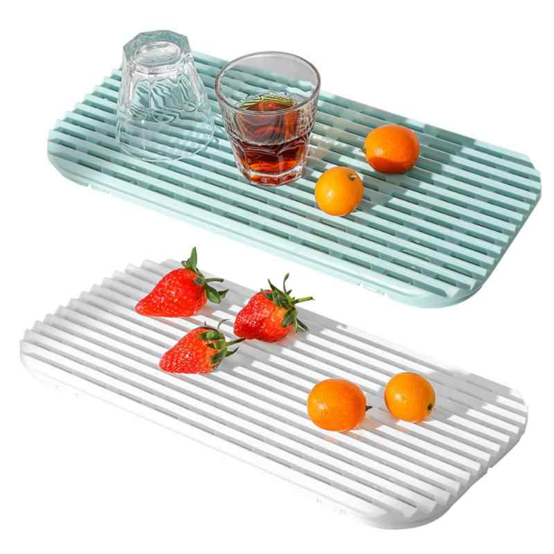 排水茶トレイ移植性なしスペース占有長方形プラスチック中空プレートフルーツホルダー家庭用キッチン