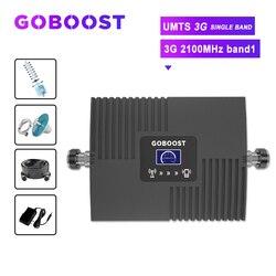 Wzmacniacz GOBOOST 3g wzmacniacz sygnału komórkowego 2100 wzmacniacz sygnału komórkowego wyświetlacz LCD repeater UMTS 3G 2100 gsm 2g 3g 4g antanna