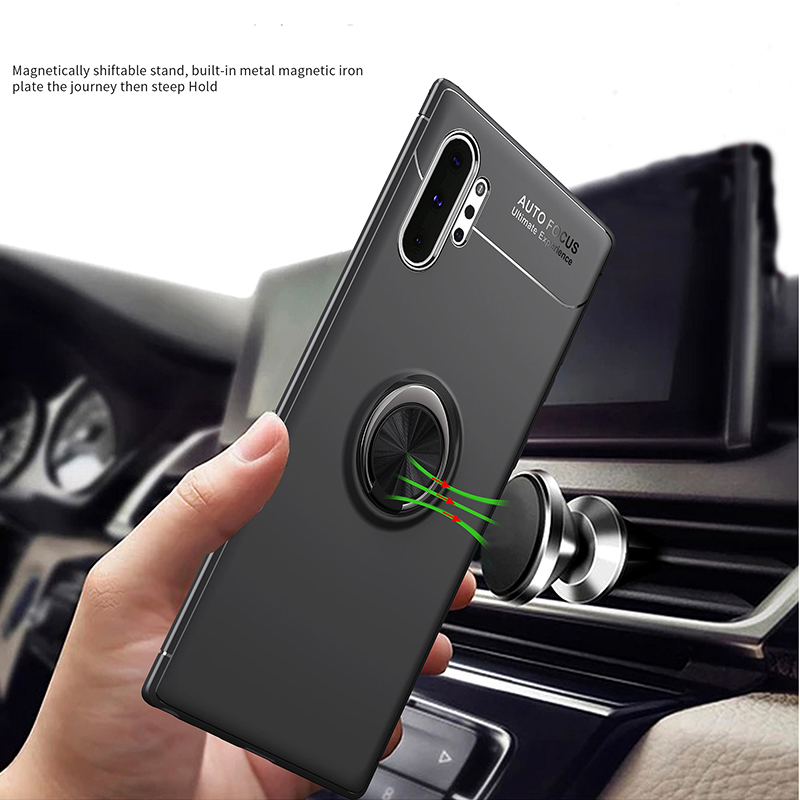 For Samsung Note 10 Pro Case Car Holder Stand Magnetic Bracket Ring Anti-fingerprint Case For Samsung Note 10 Plus Note10 Case