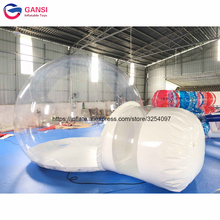 цена на Free shipping 4m inflatable camping igloo tent ,hot selling inflatable transparent bubble tent with entrance