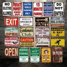 [Altcraft] caução X-RAY estacionamento só saída público metal sinais posters pintura vintage decoração personalizada LT-2004