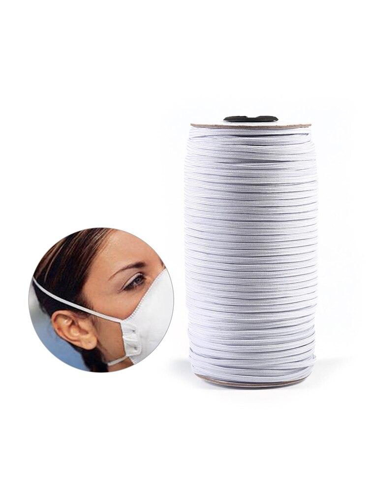 Швейная маска 10 ярдов 3/6/9/10/12 мм, эластичная плоская лента, канатная Резиновая лента, поясная маска, DIY, аксессуары для одежды