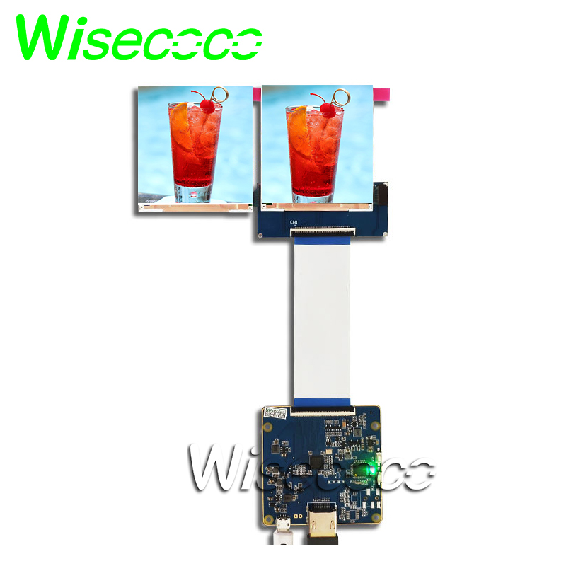 3.1''LCD screen 720*720 square dual <font><b>displays</b></font> with controller board for VR AR HMD <font><b>Raspberry</b></font> <font><b>pi</b></font> 3 3b+ LT031MDZ4000 image