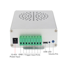 Industrial MP3 Audio Player Activated by 7 Button Switches 7 Trigger Input MP3 Sound Player for Security Protection