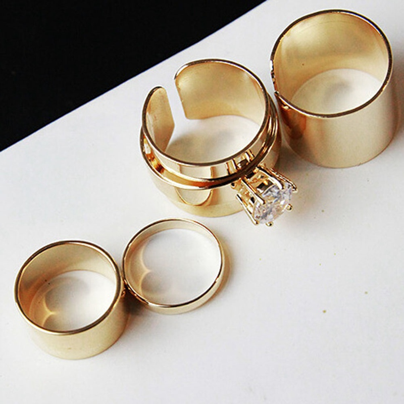 Stainless Steel 3 Colors Defensive Rings Punk Spike Rivet Cone Coyotes Hip Pop Ring for Women,10,Gold
