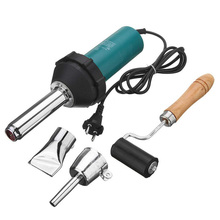 цена на Adjustable Temperature 1080W Welder Hot Air Gun Station Hair Dryer Soldering Iron Welding Heat Gun Torch & 2 Nozzle & Roller