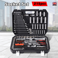 215pcs Tools Set for Car Repair Ratchet Wrenches 1/2 3/8 1/4 Dr. Socket Set Wrench Set Home Tools with Storage Case