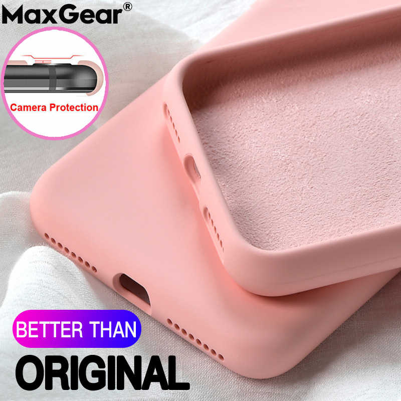 Cairan asli Silikon Case Untuk SamSung Galaxy S20 Ultra S8 S9 S10 S 20 Ditambah Catatan 10 A51 A71 A70 a50 A40 Shockproof Soft Cover
