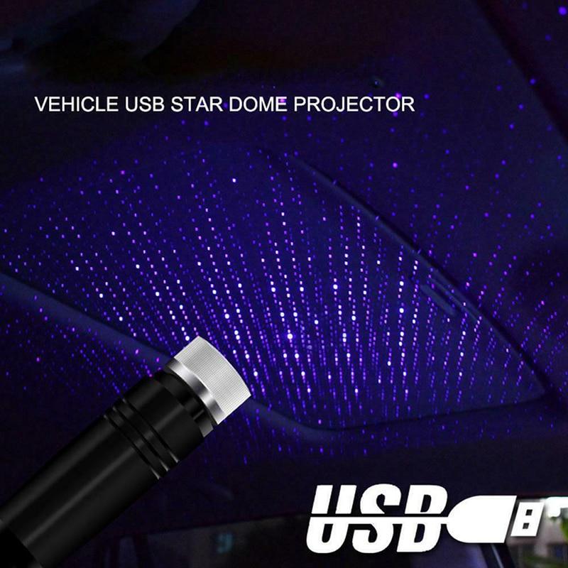 Автомобильный потолочный проектор звездного неба, модифицисветильник потолочный светильник для декора интерьера на крыше с питанием от USB|Декоративная лампа|   | АлиЭкспресс