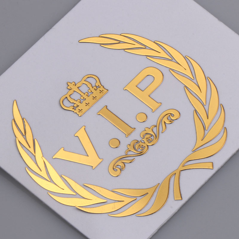 Car Styling 3D VIP Crown Emblem Metal Nickel Badge Sticker Automobile Body Decoration Decal for Mobile Phone Laptop Accessories