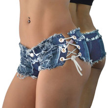 Women Sexy Jeans Denim Shorts New Summer Fashion Cotton Lace-up Super Mini Booty Hot Ladies Skinny Short