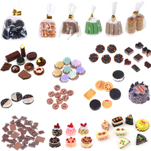 Biscuits Dessert Cookies Chocolate Glass Can Miniature Dollhouse Kitchen Decoration Bakery For Children Kids Pretend Play Toys