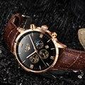 Мужские часы Reloj de hombre LIGE  модные деловые часы из кожи  светящиеся многофункциональные спортивные кварцевые часы с Луной и фазой даты