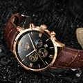 Reloj de hombre LUIK heren Horloges Mannen Zakelijke Mode Lederen Horloge Moon phase Datum Lichtgevende multifunctionele Sport quartz Klok