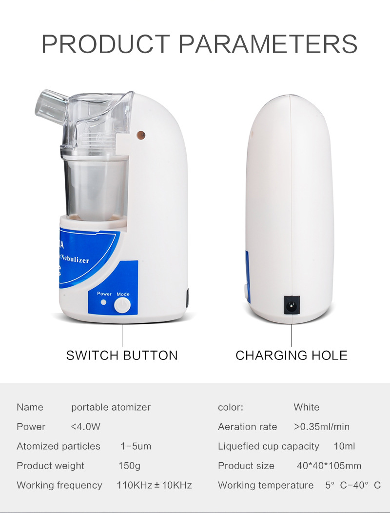 Купить с кэшбэком Atomizer Children Medical Use Home Nebulizer Machine Spray Beauty Household Gift 520A Portable