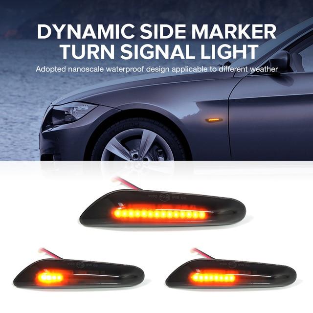 1 Pair Car Turn Signal Lights LED Turn Indicator Blinker Lamp Signal Lamp Side Marker For bmw E90 E91 E92 E93 E60 E87 E82 E46 3