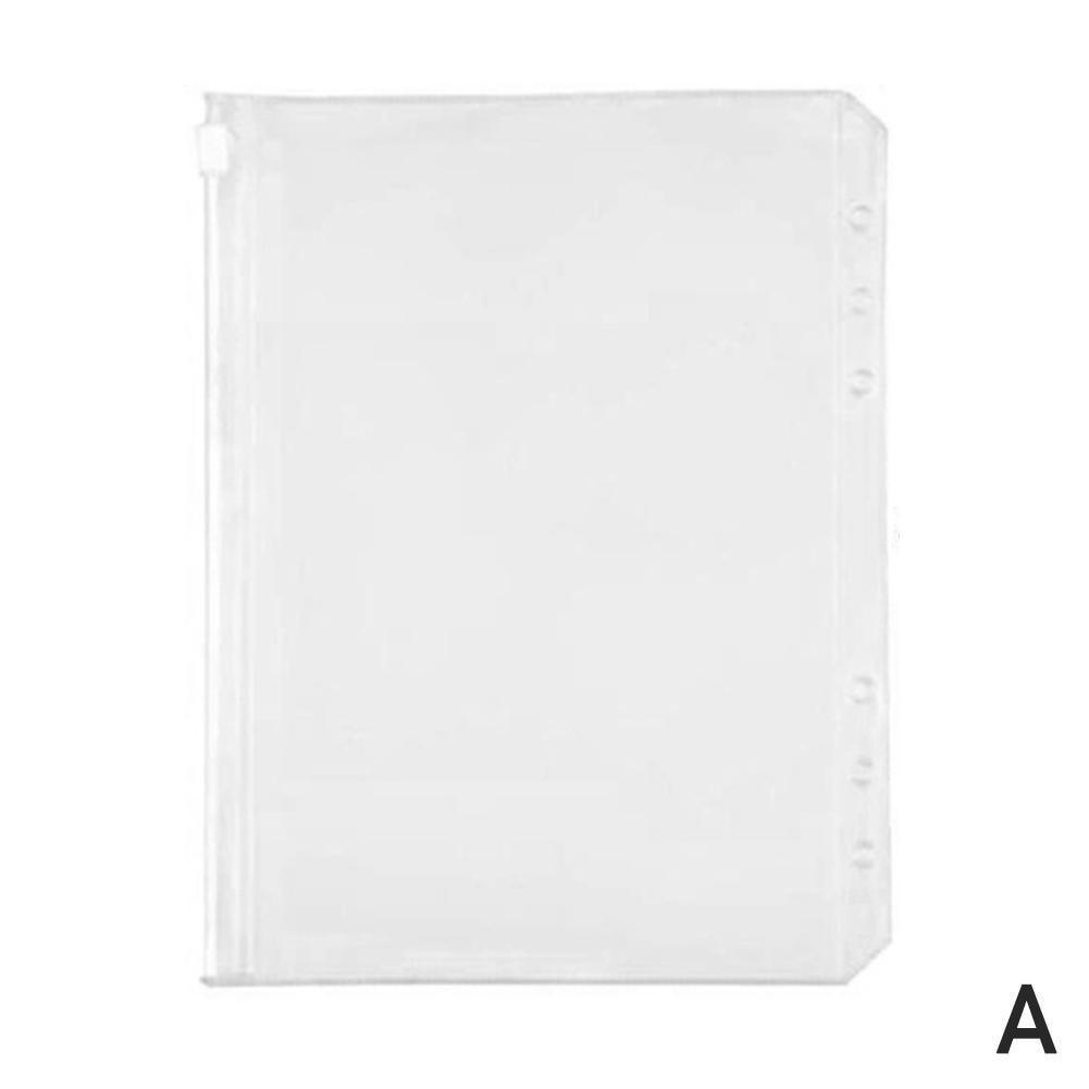 Transparent Zipper Loose-leaf Bag Folder Business Card Zipper Bag Notebook Office Learning Bag Children Supplies Folder H5F9