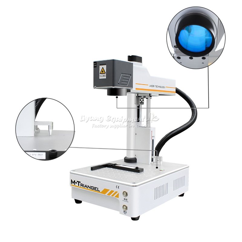 M-Triangel <font><b>20W</b></font> Fiber CNC <font><b>Laser</b></font> <font><b>Cutting</b></font> Engraver iPhone XS XSMAX X 8P 8 Back Glass Remover LCD Frame Repair Separating Machine image