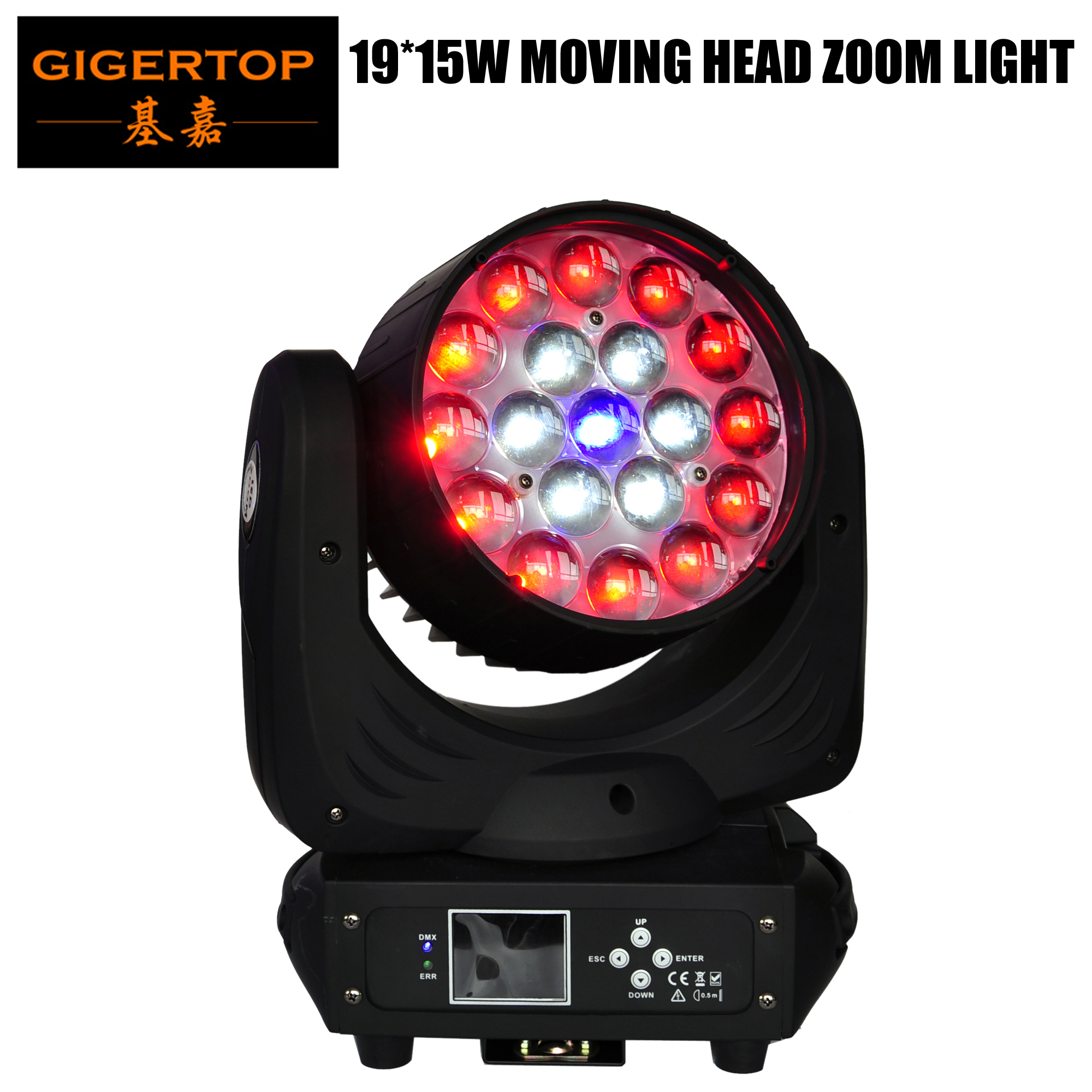 TIPTOP TP-L640A 19x15W Led Zoom Moving Head Beam Wash Light 300W High Power RGBW 4IN1 <font><b>Os</b></font>-ram Zoom <font><b>Motor</b></font> 13 / 24 Channels image