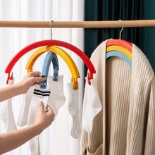 Hanger Rotating-Racks with Pants Clip Bed-Sheet Rainbow Multifunctional Creative Three-Layer