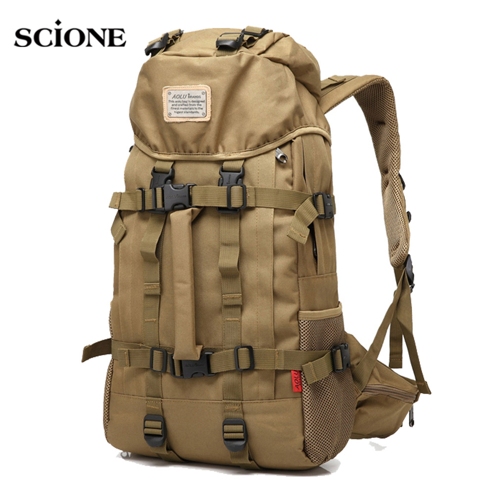 Outdoor Men Tactical Backpack Military Bag Waterproof Hunting Rucksack Hiking Camping Backpacks Travelling Sack Sport XA990WA