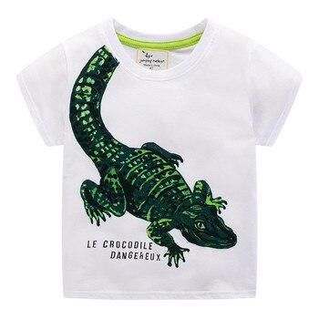 Crabs / Tiger / Crocodile Printed Cotton Baby's T-Shirt 3