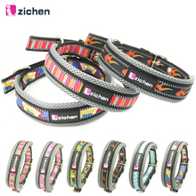 Zichen Pet Dog Collar Printing Reflective Breathable Mesh Adjustable Nylon Durable Necklace For Training Supplies