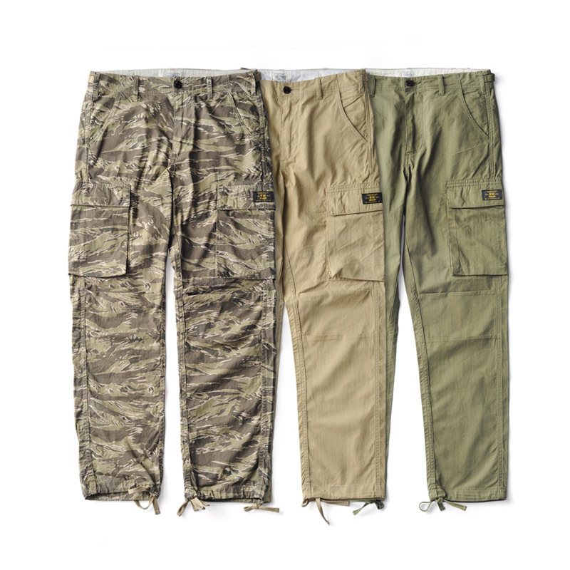 Us Military Style Tiger Pattern Camouflage Cargo Pants Mens Cotton Vintage Straight Casual Pants CP-0001