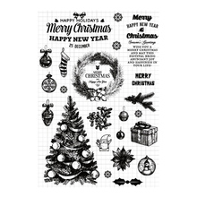 Clear Stamps for DIY Scrapbooking Card Merry Christmas Tree New 2019 Transparent Silicone Stamps Making Photo Album Crafts Decor merry christmas trees sticker painting stencils for diy scrapbooking stamps home decor paper card template decoration album