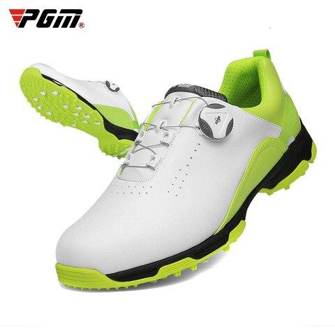 Sapatos de Golfe Homem à Prova Dwaterproof Água Respirável Antiderrapante Sapatos Rotativos Esportivos Cravados Anti-escorregadio Tênis D9103 Pgm