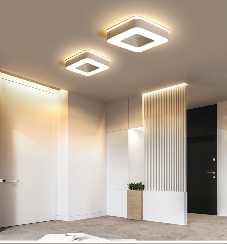 Hebe1b90417224cfaac94e744fe15bc0db Living Room Ceiling Lights | Drop Ceiling Lights | LED Ceiling Light Corridor Art Gallery Decoration Front Balcony Lamp Porch White Black Power 18W