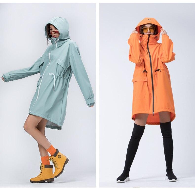 de chuva com capuz impermeável moda poncho bg50rc
