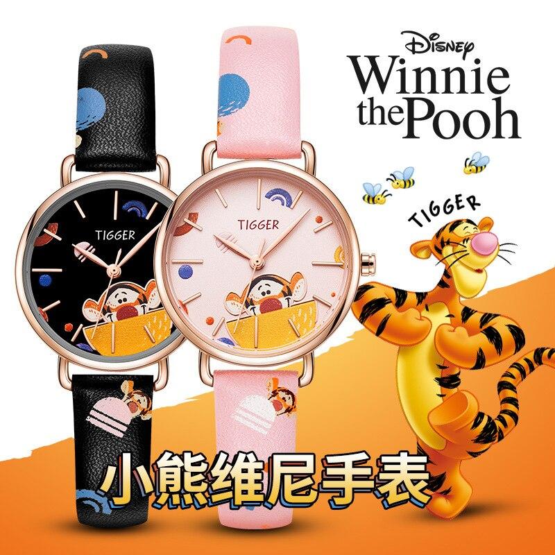 Disney Оригинальные +Часы Женский Студенческий Водонепроницаемый Корейский Версия Тренд Симпатичный И Простой Темпераментный