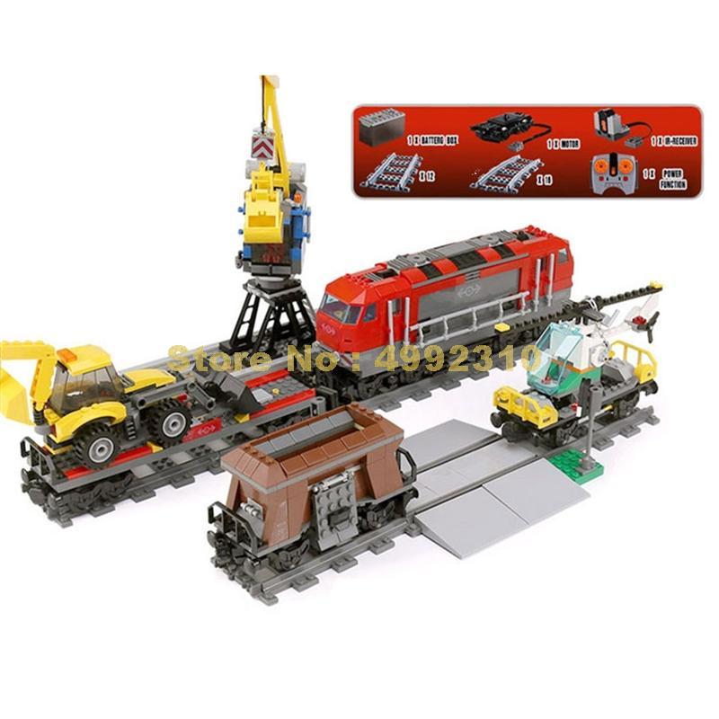 1033 sztuk miasto inżynieria zdalnego sterowania rc pociąg elektryczny building block 60098 cegły zabawki w Klocki od Zabawki i hobby na  Grupa 1