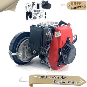 Juego completo de 4 tiempos de 49CC de Motor de arranque por cuerda, gasolina, motorizado para Mini motocicleta de bolsillo, moto de cross Quad, Scooter ATV Buggy