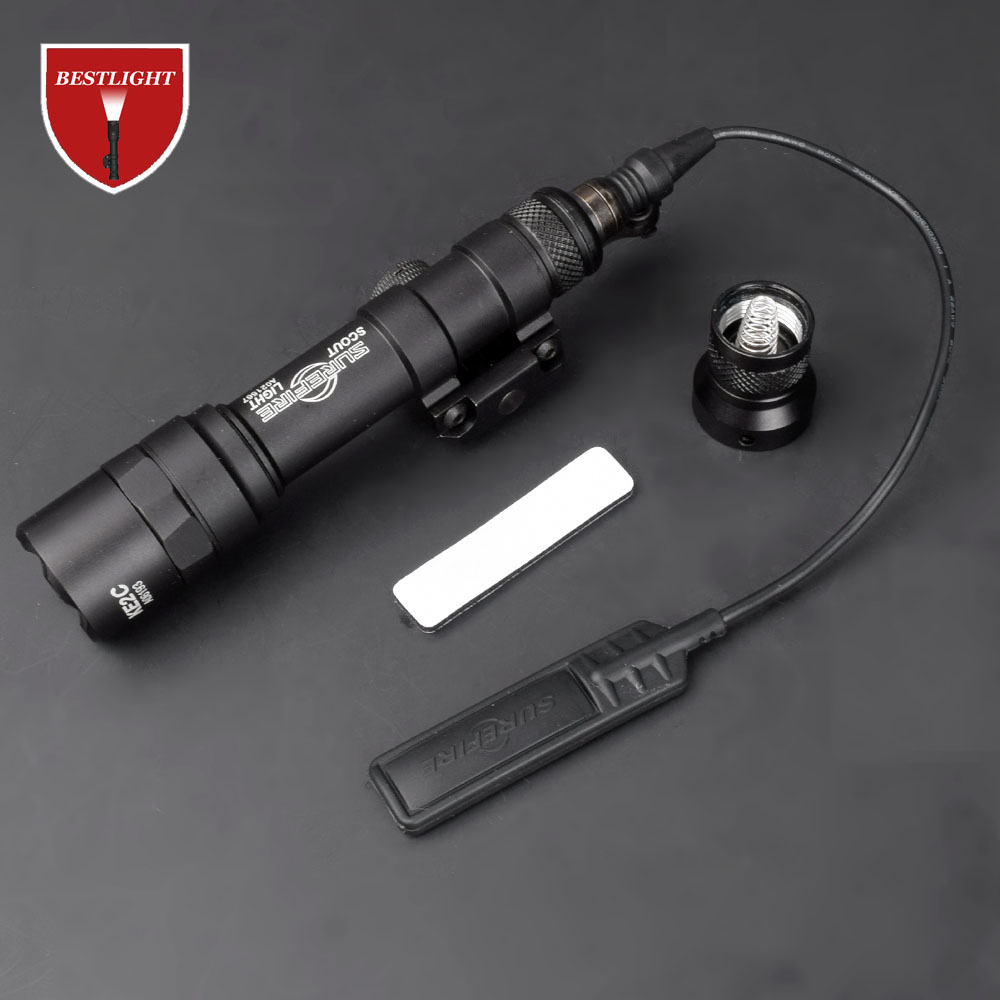 M600 M600B Scout Light Tactical LED Mini Flashlight 20mm Picatinny Hunting Keymod Rail Mount Weapon light for Outdoor Sports(China)