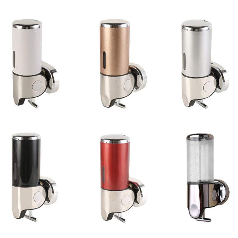 Bathroom Plastic Soap Dispenser Stainless Steel Hand Soap Bottle Shower Gel Soap Box 500ML Liquid Soap Dispensers