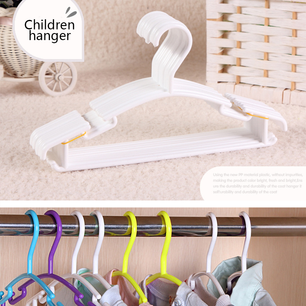 10Pcs/Lot Portable Children Clothes Hanger Kids Toddler Baby Clothes Coat Plastic Hangers Hook Household Organizer