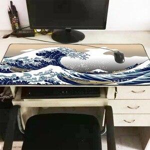 Image 3 - Mairuige נהדר גל Off אמנות גדול גודל משטח עכבר גומי טבעי מחשב מחשב משחקי שטיחי עכבר שולחן מחצלת נעילת קצה עבור CS ללכת LOL
