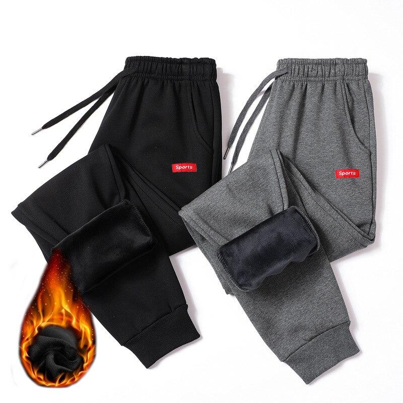2019 Spring And Autumn New Style Men'S Wear Plus Velvet Elastic Waist Cotton Elastic Harem Pants Sports Pants Casual Pants Men's