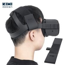 Повязка на голову KIWI design для Oculus Quest 2, удобная искусственная кожа и снижение давления на голову, аксессуары виртуальной реальности