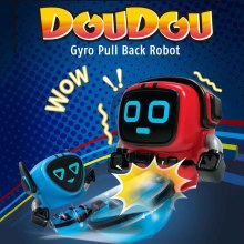 Transforming Robot Toys Detachable Removable Gyroscopes Top 3-Modes Wind-up Car Launching Robots Gyro Pull Back Toy For Kids