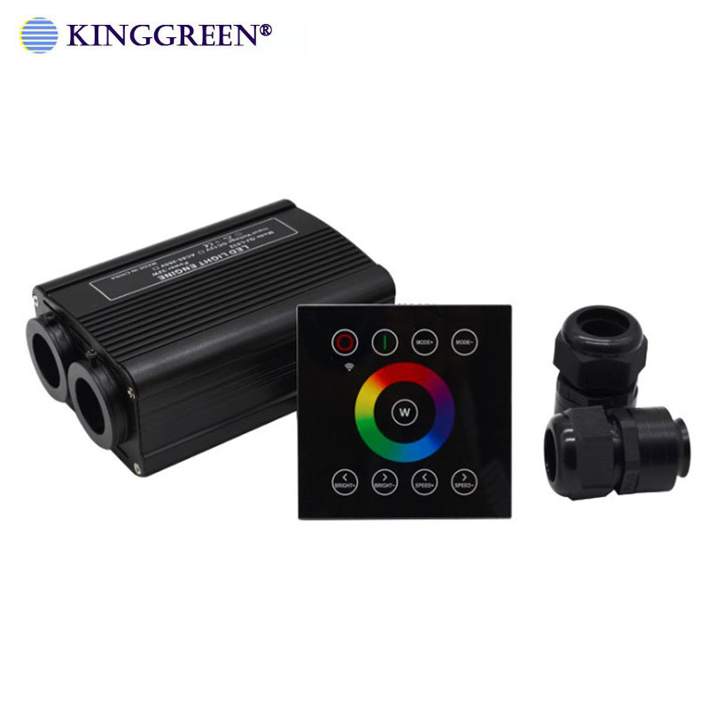 1X High Brightness RGBW LED 32W Fiber Optic Double Light Engine Driver With 2.4G Wireless Touch Controller Free Shipping