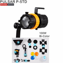 Digitalfoto falcon eyes pulsar 5 p 5td mini luz de ponto foco ajustável comprimento luz de preenchimento 100 w fotografia luz