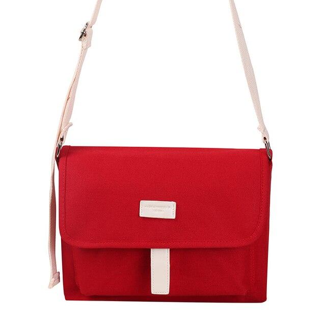 Kpop Bangtan sacs à bandoulière en toile rouge, sac à main pour pièces de monnaie pour maquillage