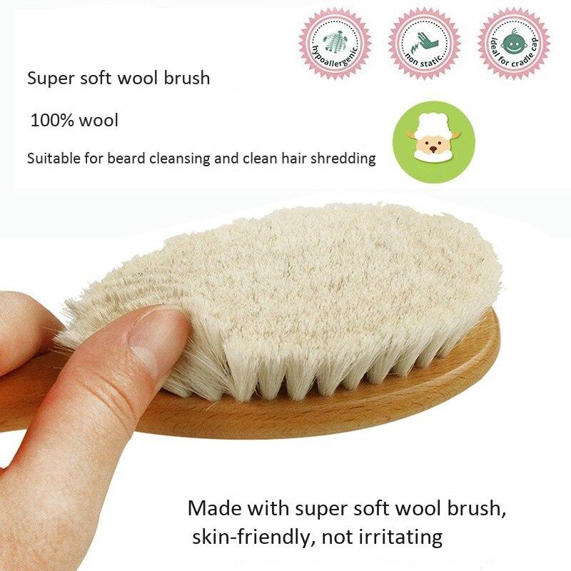conjunto de escova de cabelo do bebê
