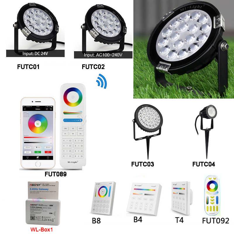 Miboxer 6W 9W 15W Rgb + Cct Led Gazon Licht IP65 Waterdichte 24V 110V 220V Outdoor Tuin Licht FUTC01/FUTC02/FUTC03/FUTC04