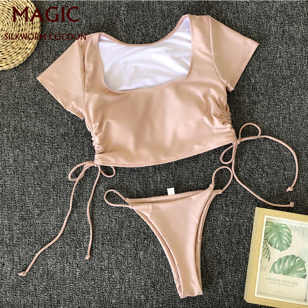 Bikini New Sport Swimwear Women Swimsuit Sexy Bikini Set Solid Bathing Suit Brazilian Beachwear Push Up Maillot De Bain Femme