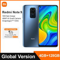 Versione globale Xiaomi Redmi Note 9 4GB 128GB Smartphone Helio G85 Octa Core Smartphone 48MP Quad Camera 6.53