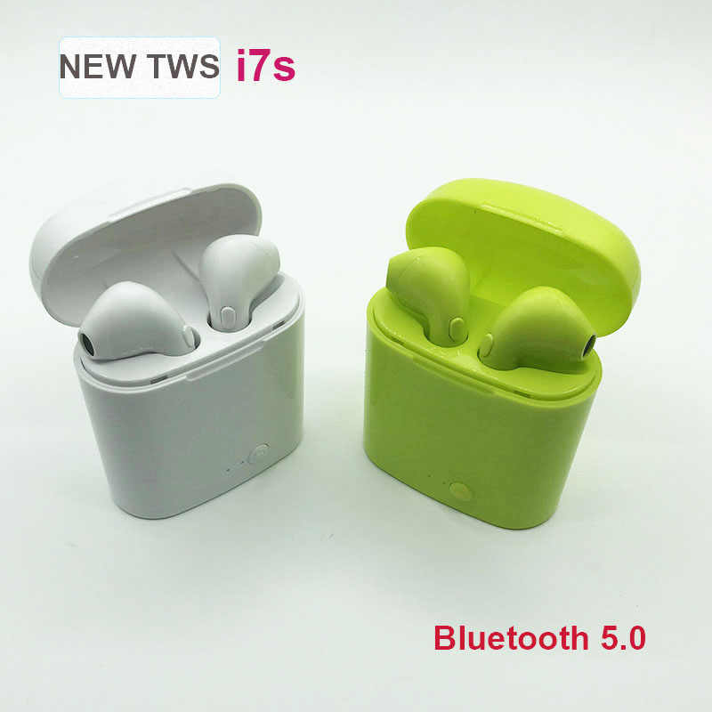 i7s TWS Wireless Earphone Stereo Earbud Bluetooth Headset With Charging Box Mic For All Smart phone iPhone 11 XS 8 7 6
